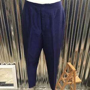 Dana Buchman Silk Royal Blue Pants